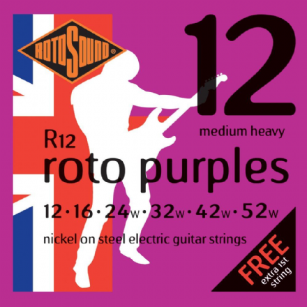 Rotosound R12 Roto Purple 12-52 Nickel Acoustic Guitar Strings